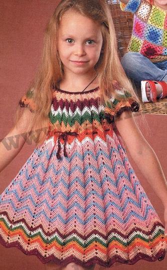Вязание платья для девочки.