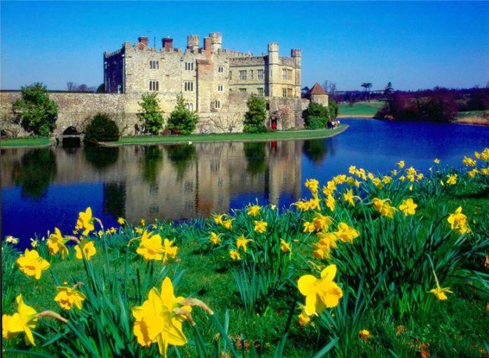 Средневековый замок Англии. Замок Лидс.