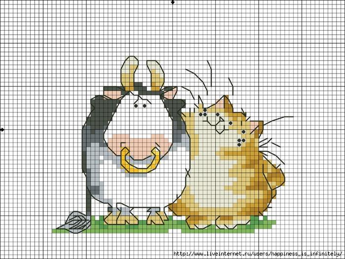 Вышивка кот маргарет шерри