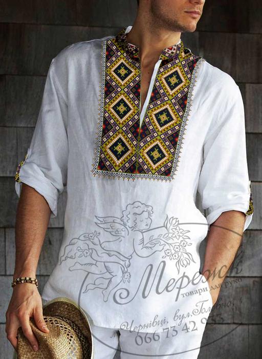 Вышивка мужской вышиванки схемы 151