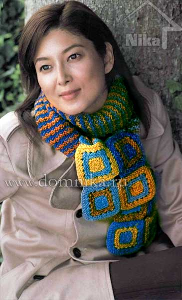 Модель шарфа из японского
