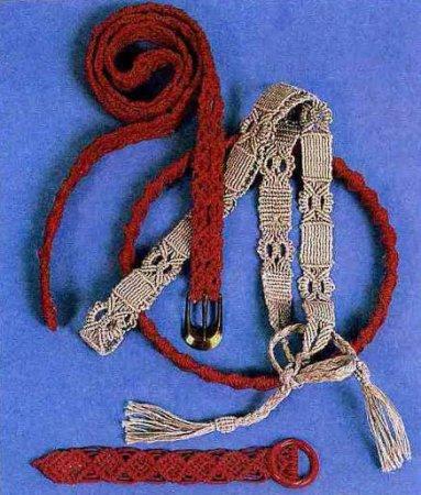 Плетем пояс по технике макраме.