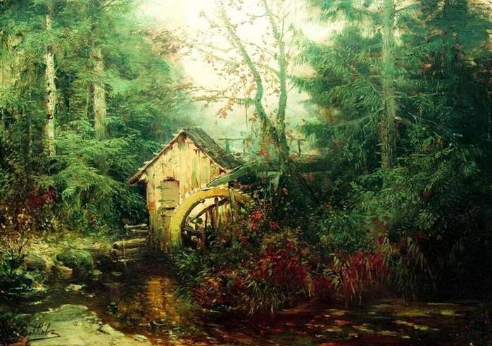 Художник Волков Ефим Ефимович 1844-1920 1 (700x492, 158Kb)