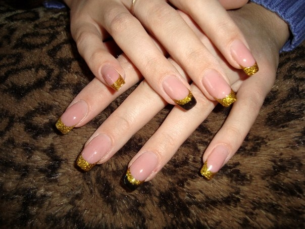 Ногти френч модный дизайн фото