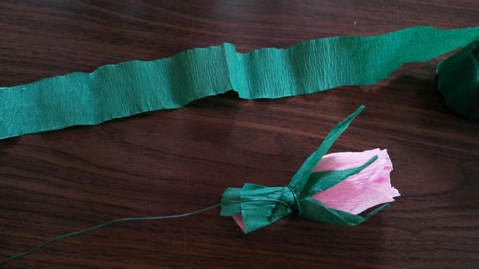 Букет тюльпанов из гофрированной бумаги. Фото мастер-класс (16) (700x393, 181Kb)