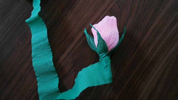 Букет тюльпанов из гофрированной бумаги. Фото мастер-класс (18) (700x393, 182Kb)