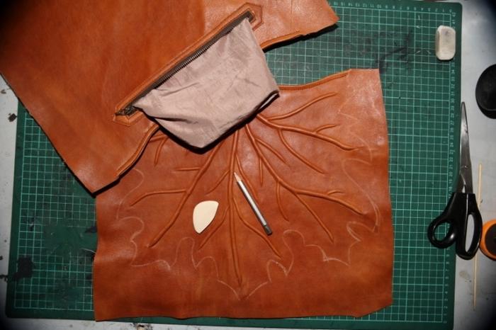 Шьем сумку своими руками кожаную
