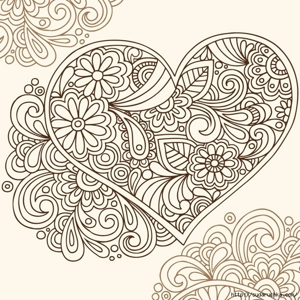 mehndi designs coloring book pages - photo#20
