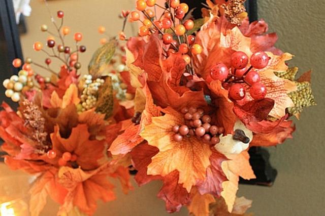 Экибана своими руками осень из листьев 72