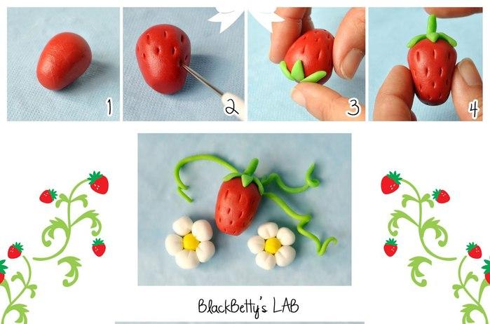 Как сделать из мастики клубнику