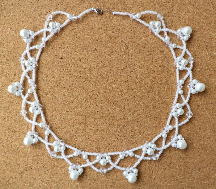 Ожерелье из бисера по схеме