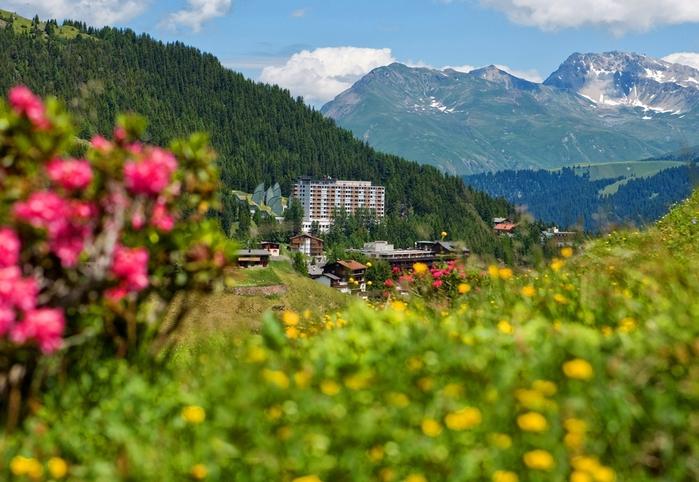 Tschuggen Grand отель в швейцарских альпах фото  (700x482, 281Kb)