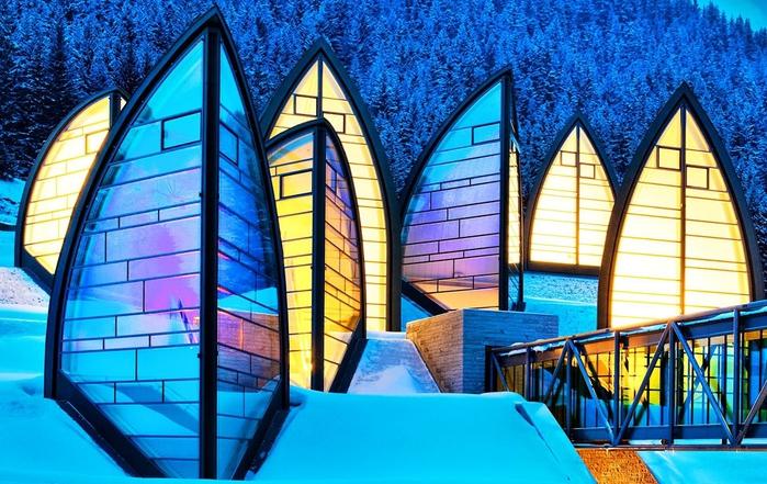 Tschuggen Grand отель в швейцарских альпах фото 4 (700x441, 316Kb)