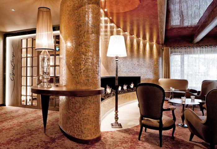 Tschuggen Grand отель в швейцарских альпах фото 6 (700x482, 309Kb)