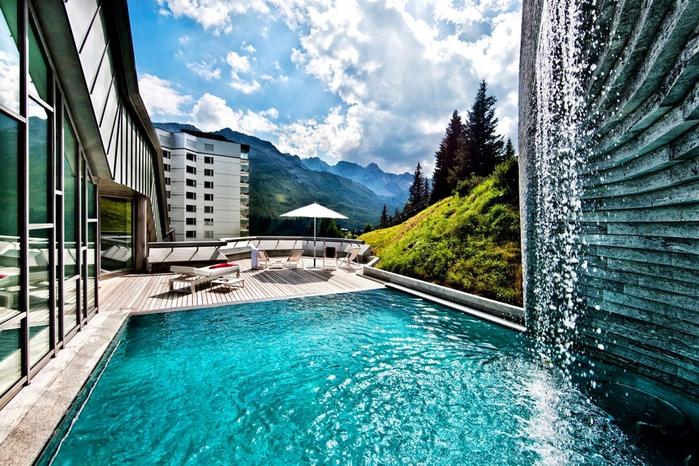 Tschuggen Grand отель в швейцарских альпах фото 7 (700x466, 346Kb)