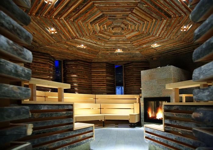 Tschuggen Grand отель в швейцарских альпах фото 13 (700x493, 299Kb)