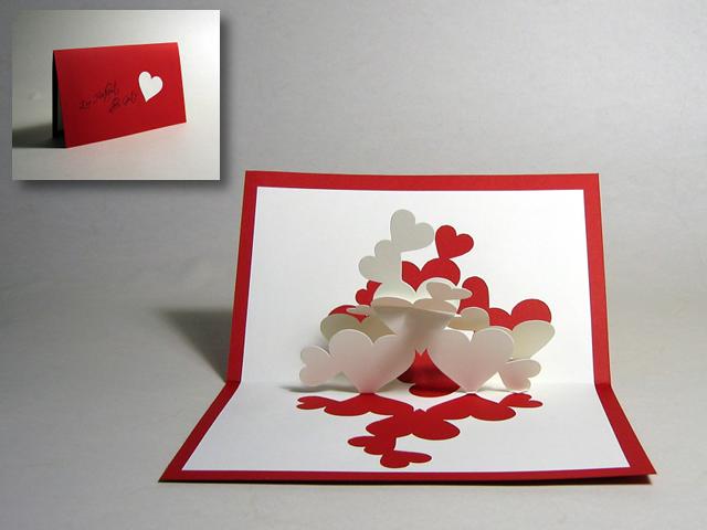 Как сделать открытку с сердечками своими руками