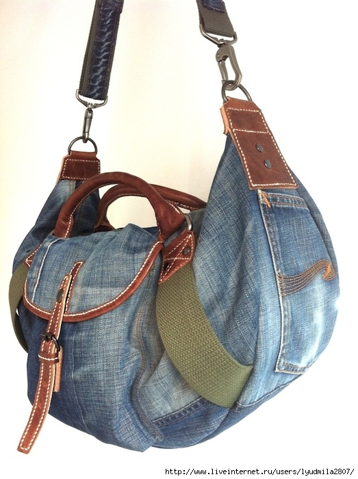Как сшить сумку из старых джинс для ноутбука своими руками
