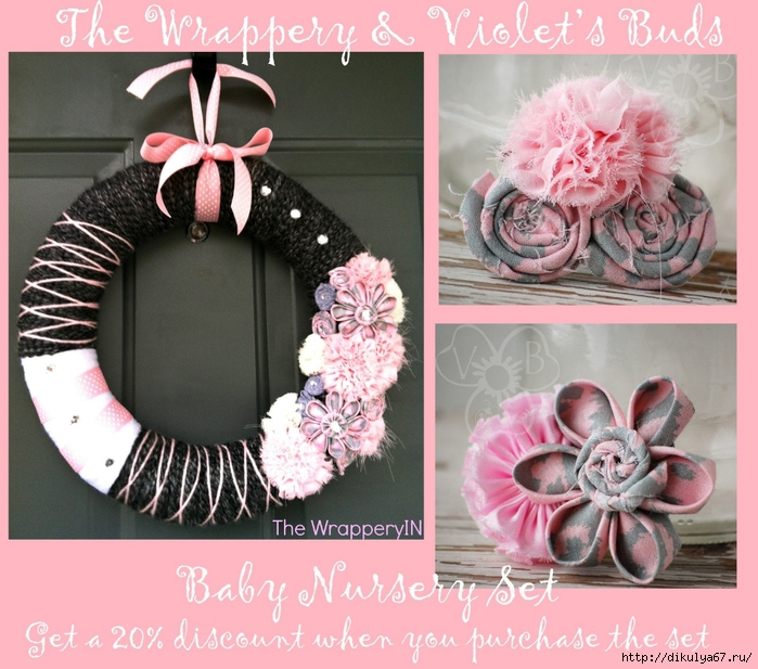 wrappery wreath & vb set (700x617, 317Kb)