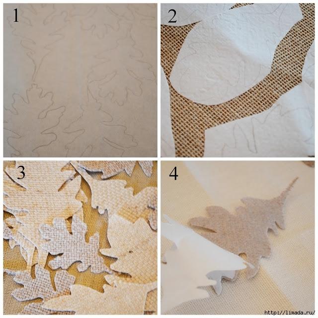 Fall No Sew Burlap Leaf Pillow instructions 1 stonegableblog (640x640, 267Kb)