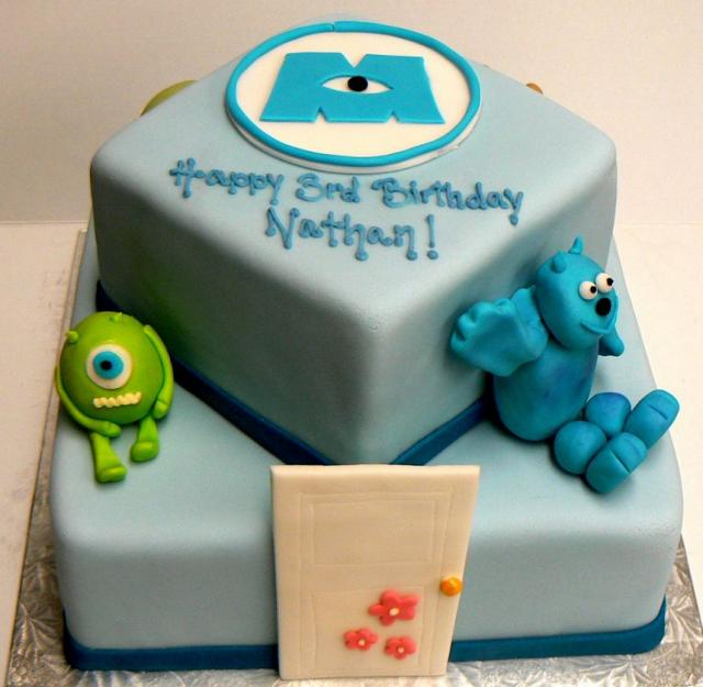 Monsters Inc two tier birthday cake (640x625, 245Kb)