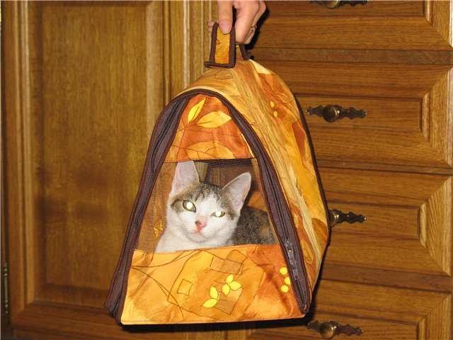 Сшить переноску для кошек