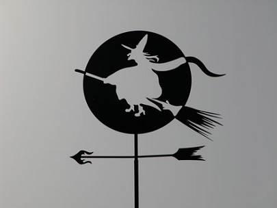 Флюгер Ведьма на фоне луны (405x304, 7Kb)