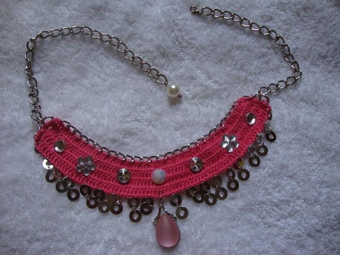 Вязание ожерелья крючком