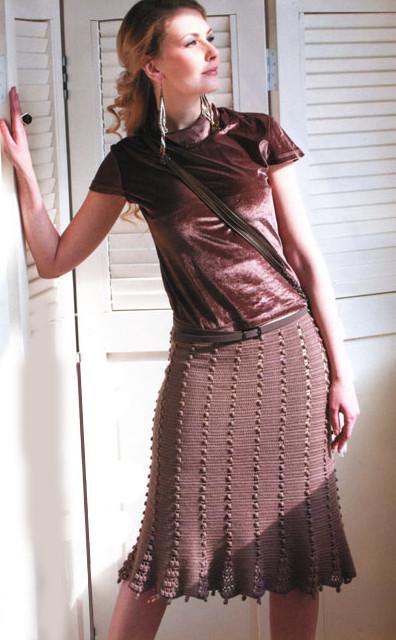 Вязаная юбка годе