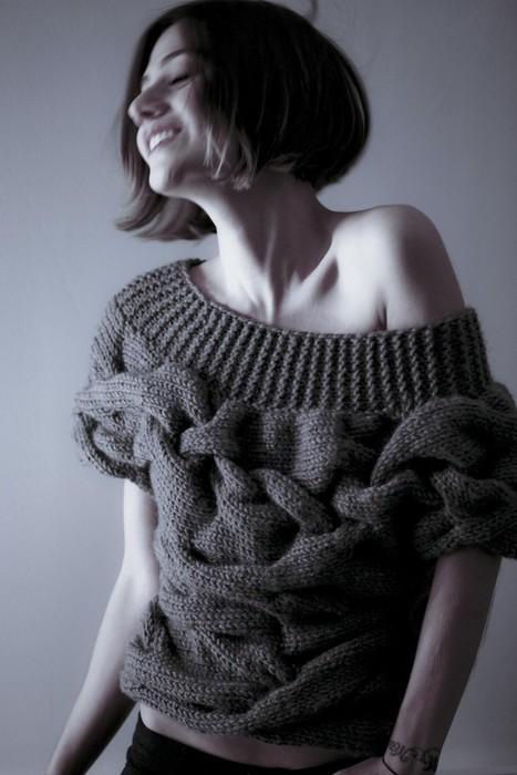 Вязаный-пуловер-с-широкими-косами-2 (467x700, 68Kb)