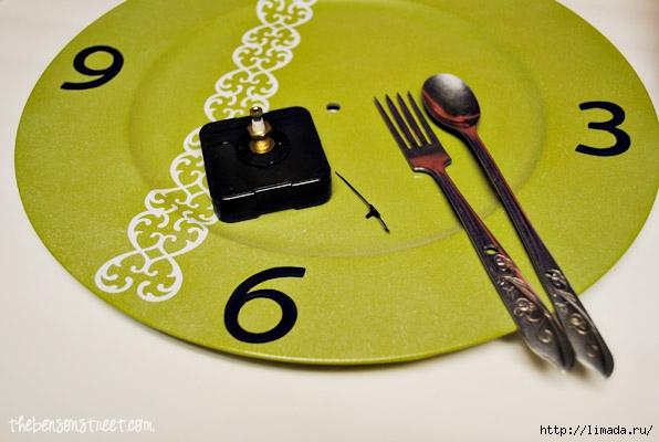 Kitchen-Silverware-Clock-Making-at-thebensonstreet.com_ (596x400, 145Kb)