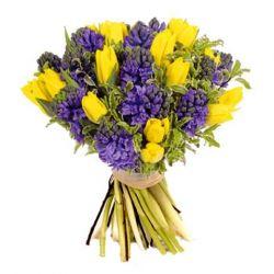 Букет с жёлтыми тюльпанами (250x250, 12Kb)