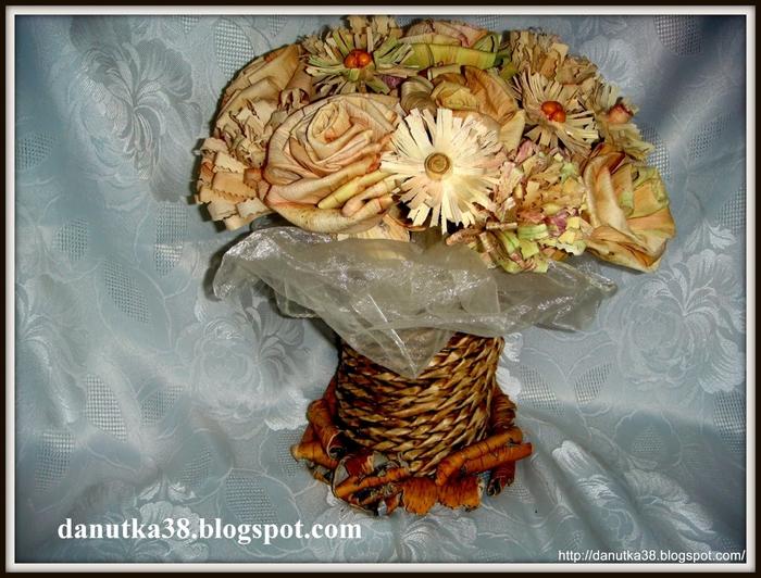 букет цветов из листьев кукурузы - талаша, мастер-класс (42) (700x532, 319Kb)
