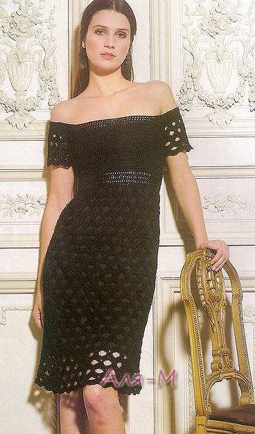 Вязание. Платье, крючок