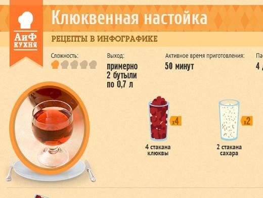 Настойка на клюкве на спирту в домашних условиях рецепт
