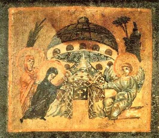 1379191820_Fresco_of_XI_century__Saucer_at_the_Tomb_of_Jesus_Vatican___0995601 (531x463, 66Kb)