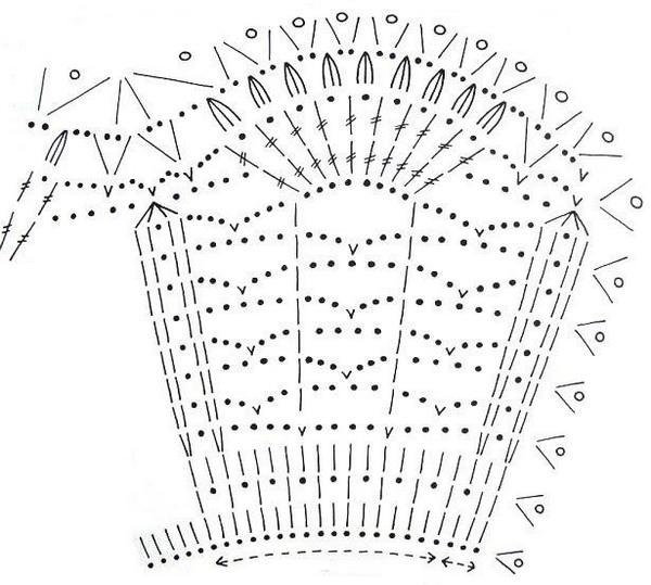Стильные модели крючком (20) (600x539, 145Kb)