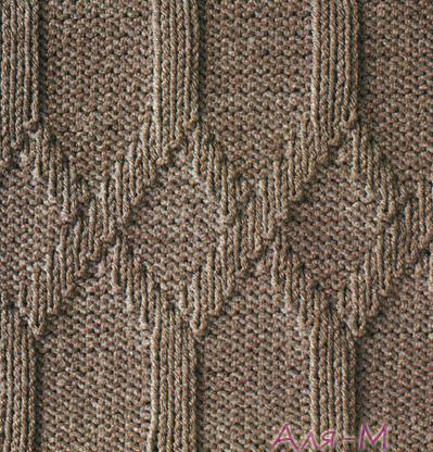 Вязание. Рельефная кайма