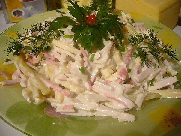 Салат с крабовыми палочками Быстрый (604x453, 57Kb)