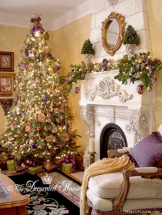The Decorated House Christmas Purple Green 2005 (525x700, 403Kb)