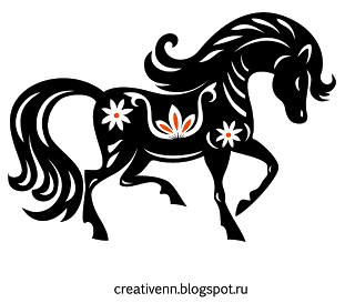 лошадь_клипарт_год лошади_2014_новогодние (320x273, 20Kb)