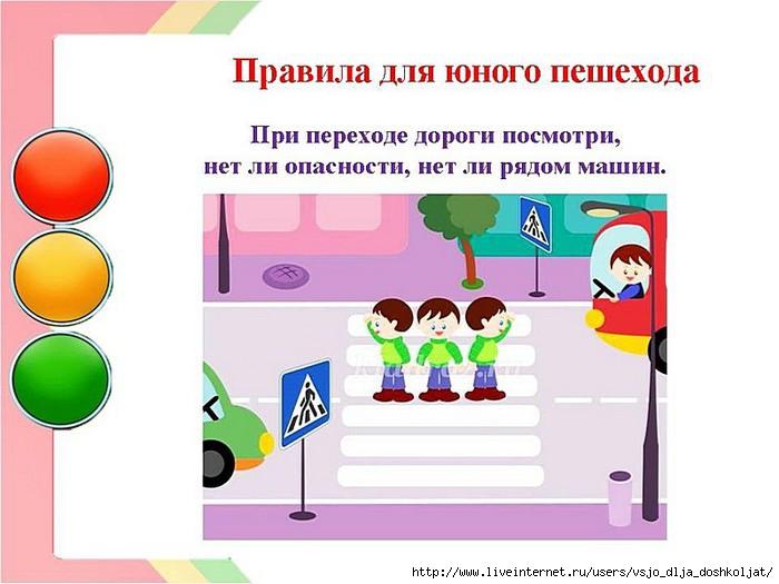 Правила для пешехода при переходе - 28441