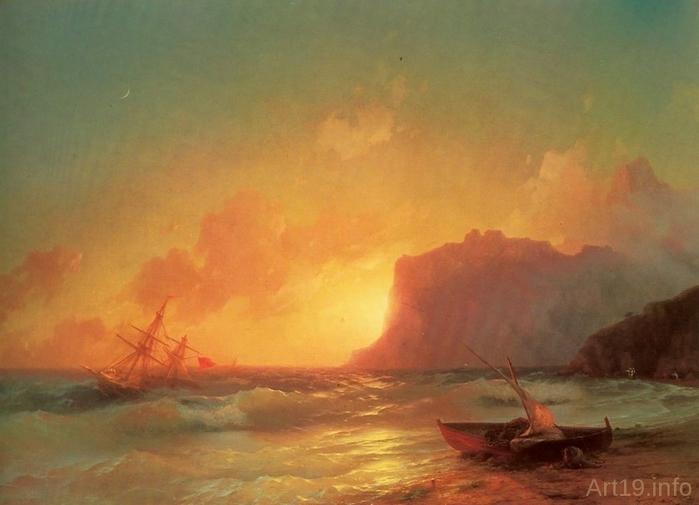 Море. Коктебель. 1853 год (700x505, 193Kb)