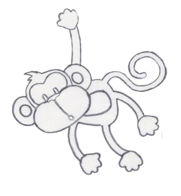 Трафарет обезьянки своими руками