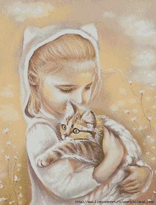 Любимый котенок (живопись)-2 (533x700, 277Kb)