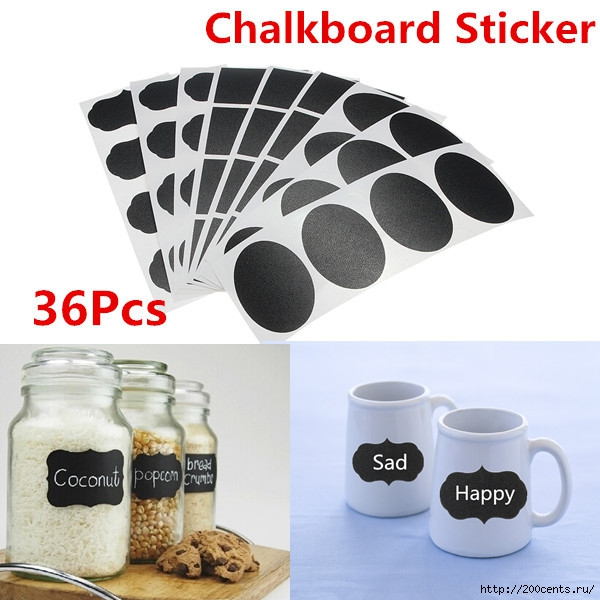 36Pcs Chalk Pen Chalkboard Sticker Labels Vinyl Kitchen Jar Decor Decals 5CM X 3.5CM/5863438_36PcsChalkPenChalkboardStickerLabelsVinylKitchenJarDecorDecals5CMX35CM (600x600, 177Kb)