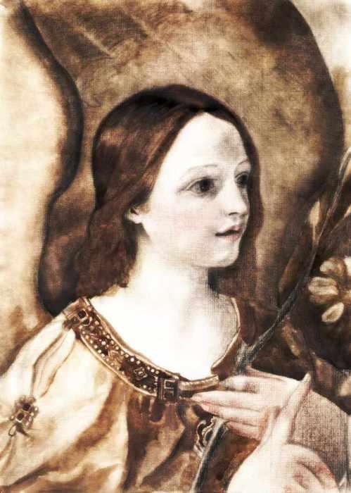 ангел с цветком фрагментГвидо Рени 1 (499x700, 35Kb)