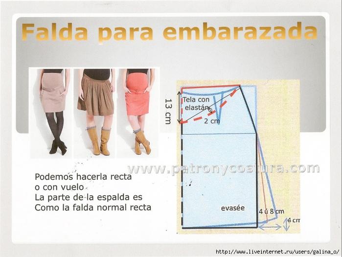 Как скроить юбку для беременных своими руками 12
