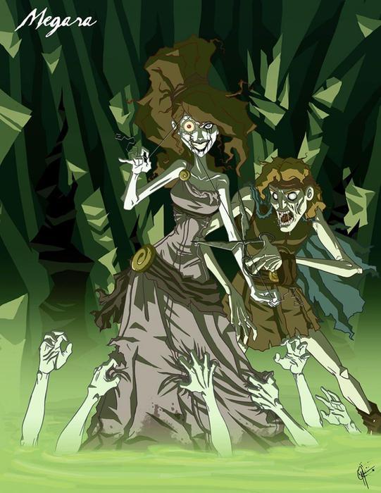Диснеевские принцессы превратились в монстров на картинах Джеффри Томаса