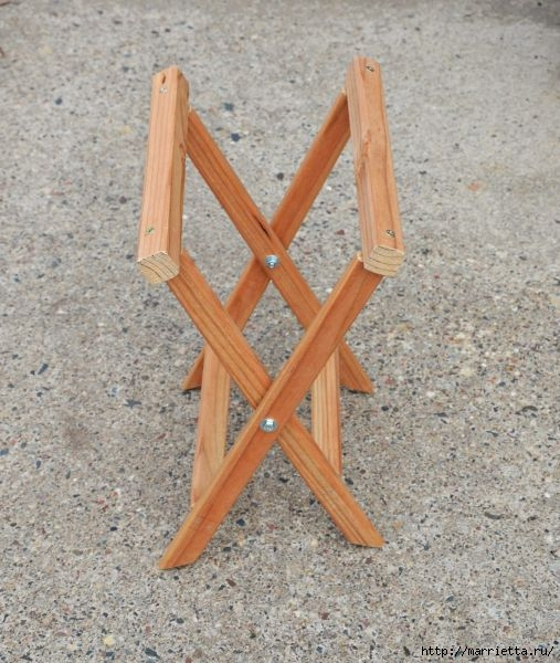 Раскладной стульчик своими руками размеры